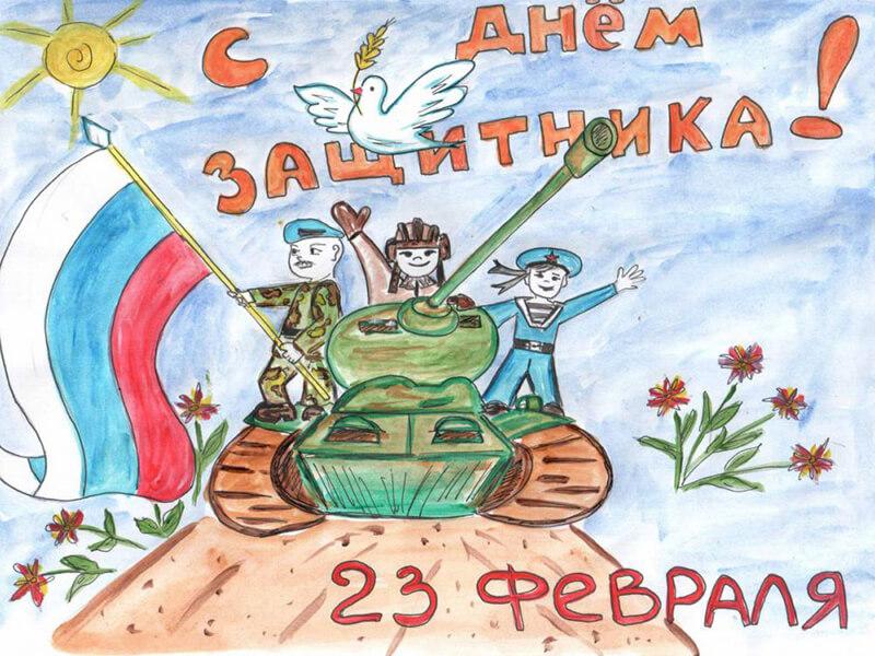 23 февраля  Детская музыкальная программа ко Дню Защитника Отечества  «Солдатушки, бравы  ребятушки