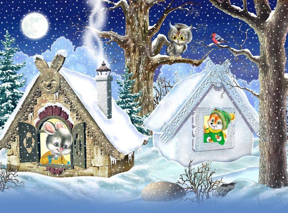 7 января Новогодняя музыкальная программа  для детей  «Заюшкина избушка»